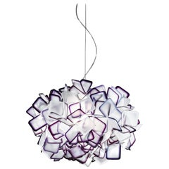 SLAMP Clizia Small Pendant Light in Purple by Adriano Rachele