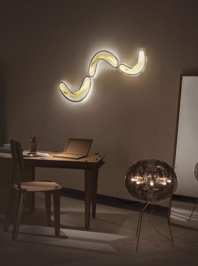 Modern SLAMP Crocco Medium Wall Sconce in Lemon by Nigel Coates