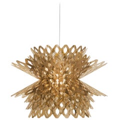 SLAMP Desert Rose Pendant Light in Gold by Doriana & Massimiliano Fuksas