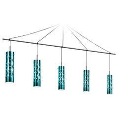 SLAMP Dimple Penta Pendant Light in Emerald by Pantone & Pavoncello