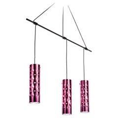 SLAMP Dimple Trio Pendant Light in Rose by Pantone & Pavoncello