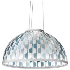 SLAMP Dome Medium Pendant Light in Blue by Analogia Project