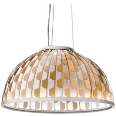 SLAMP Dome Medium Pendant Light in Orange by Analogia Project