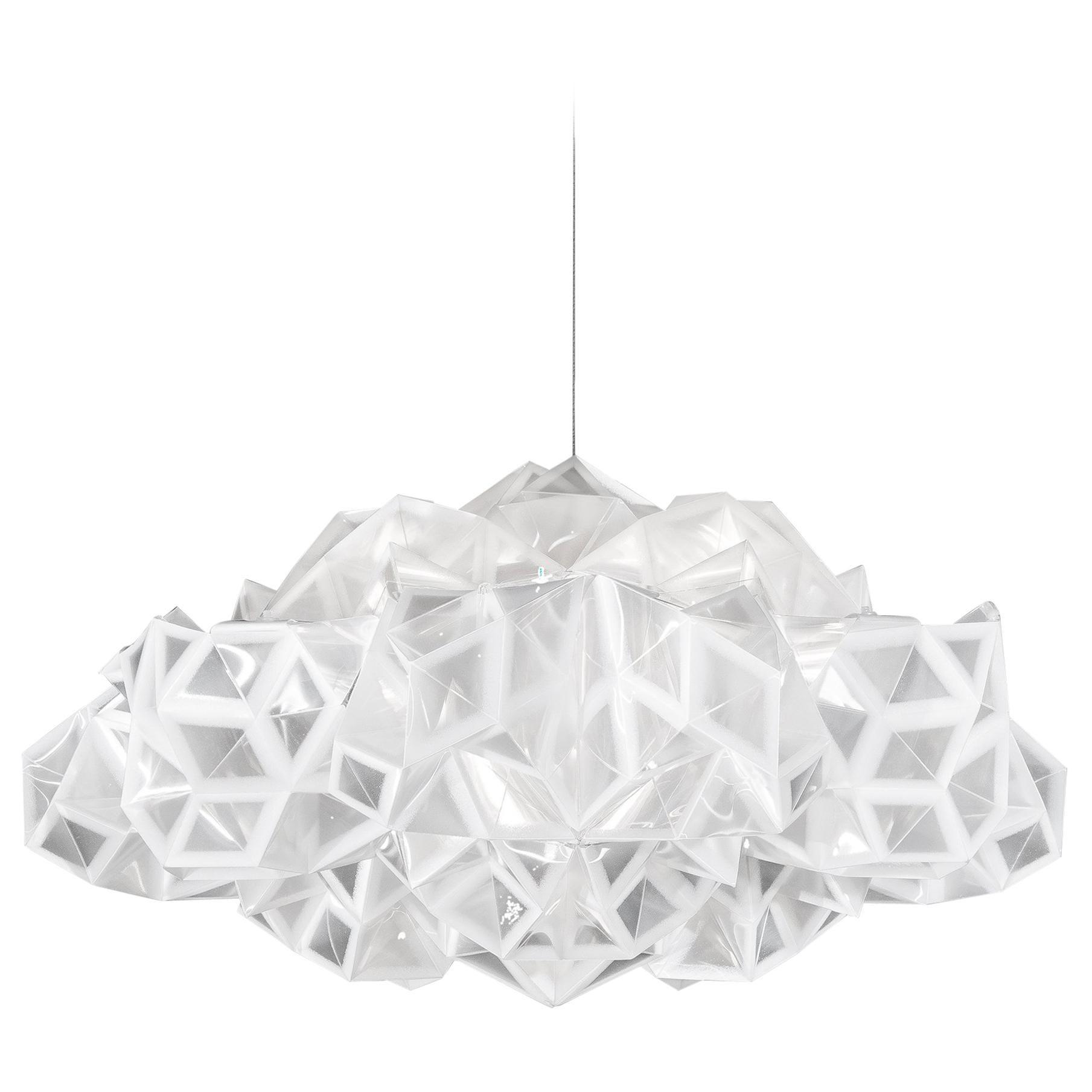 SLAMP Drusa Pendant Light in White by Adriano Rachele