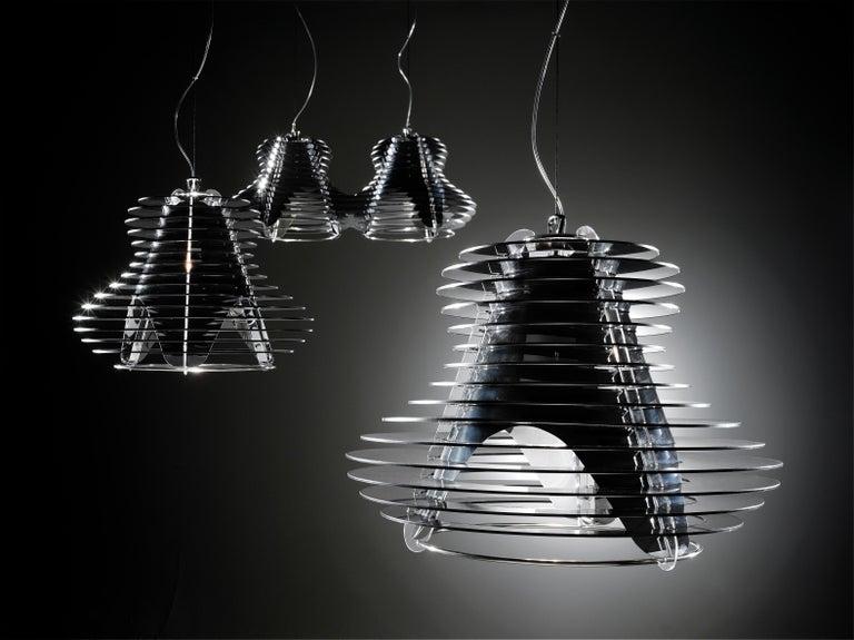 SLAMP Faretto Double Pendant Light in Black by Nigel Coates In New Condition For Sale In Pomezia, IT