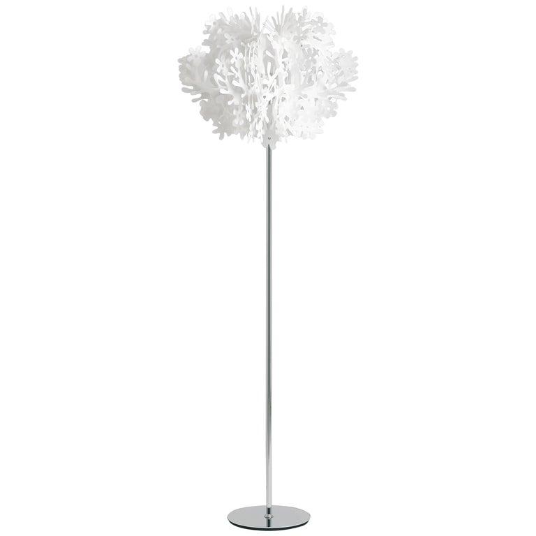 SLAMP Fiorella Floor Light in White by Nigel Coates For Sale