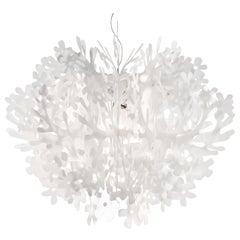 SLAMP Fiorella Medium Pendant Light in White by Nigel Coates