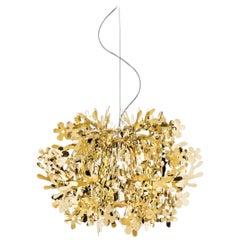 Slamp Fiorella Mini Pendant Light in Gold by Nigel Coates