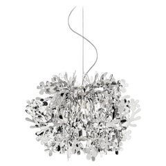 SLAMP Fiorella Mini Pendant Light in Silver by Nigel Coates