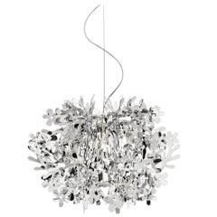 Slamp Fiorella Mini Pendant Light in Silver by Nigel Coates