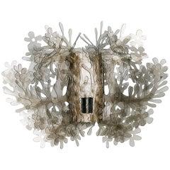 SLAMP Fiorella Mini Wall Light in Fumé by Nigel Coates