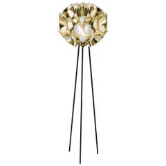 SLAMP Flora Floor Light in Gold by Zanini De Zanine