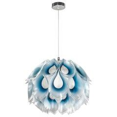 SLAMP Flora Medium Pendant Light in Blue by Zanini De Zanine