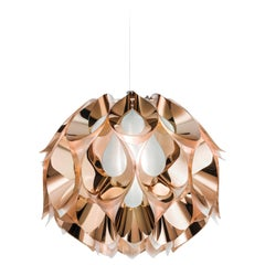 SLAMP Flora Medium Pendant Light in Copper by Zanini De Zanine