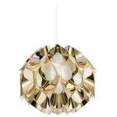 SLAMP Flora Medium Pendant Light in Gold by Zanini De Zanine
