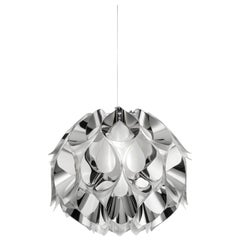 SLAMP Flora Medium Pendant Light in Silver by Zanini De Zanine