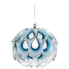 SLAMP Flora Small Pendant Light in Blue by Zanini De Zanine
