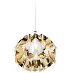 SLAMP Flora Small Pendant Light in Gold by Zanini De Zanine
