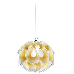 SLAMP Flora Small Pendant Light in Yellow by Zanini De Zanine