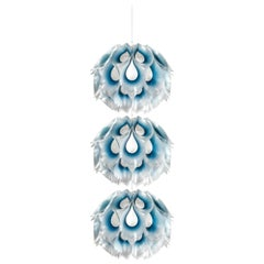 SLAMP Flora Triple Pendant Light in Blue by Zanini De Zanine
