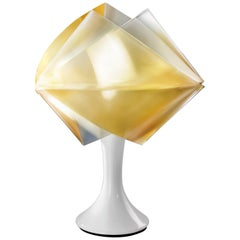 SLAMP Gemmy Prisma Table Light in Gold by Spalletta, Croce, Ragnisco & Wijffels