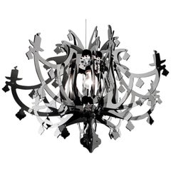 SLAMP Ginetta Pendant Light in Silver by Nigel Coates