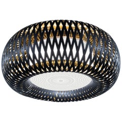 Slamp Kalatos Flushmount Black Gold by Adriano Rachele