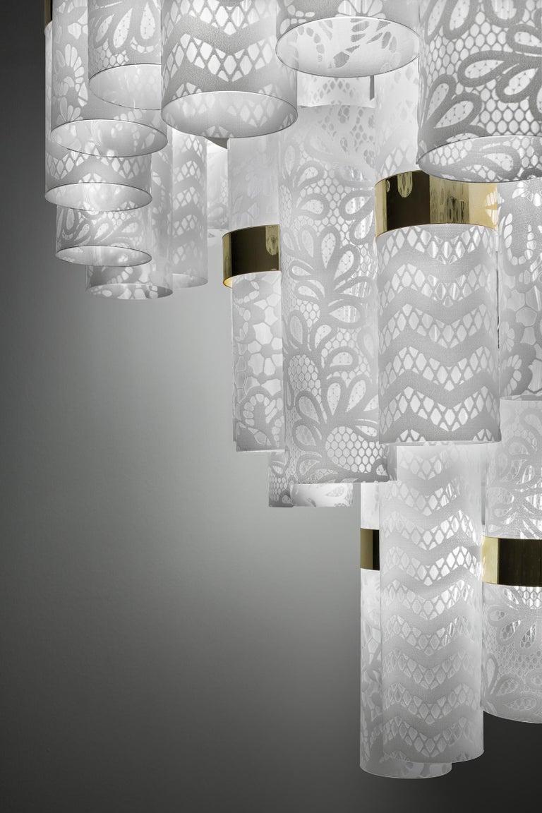 Slamp La Lollo Extra Large Pendant Light In White Lace By Lorenza Bozzoli