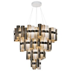 Slamp La Lollona 4-Tier Cascade Chandelier in Gold by Lorenza Bozzoli
