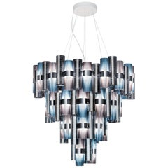 Slamp La Lollona 4-Tier Cascade Chandelier in Gradient by Lorenza Bozzoli