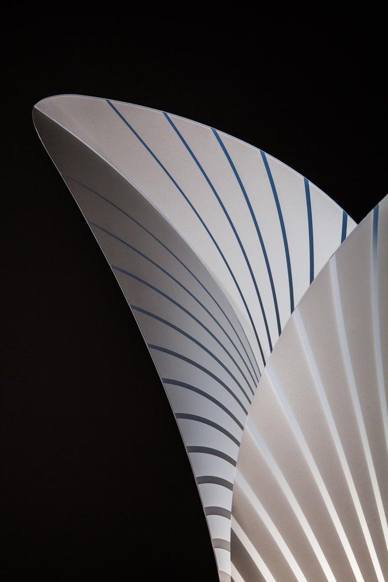 Modern SLAMP Las Palmas Extra Large Floor Light in White by Jonas Clementoni For Sale