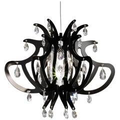 SLAMP Lillibet Small Pendant Light in Black by Nigel Coates