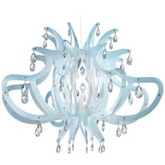 SLAMP Medusa Pendant Light in Blu Gel by Nigel Coates