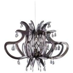Slamp Medusa Pendant Light in Pewter by Nigel Coates