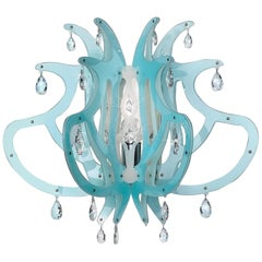 Slamp Medusa Wall Sconce in Blu Gel by Nigel Coates