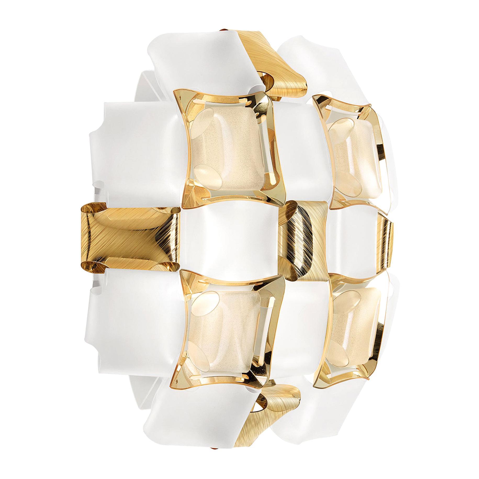 Slamp Mida Applique White/Gold by Adriano Rachele