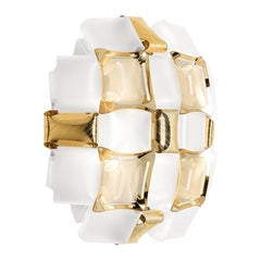 Slamp Mida Applique White/Gold by Adriano Rachele