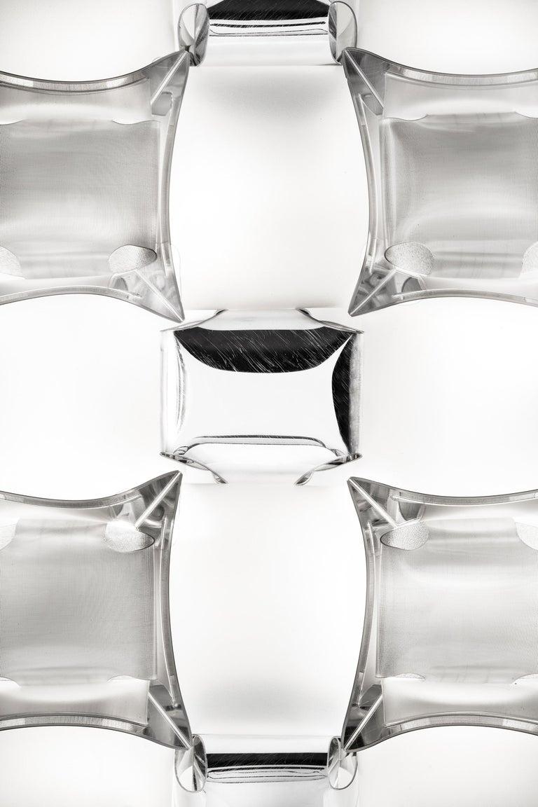 Modern Slamp Mida Wall/Ceiling Light White Platinum by Adriano Rachele For Sale