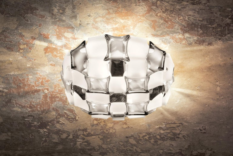 Slamp Mida Wall/Ceiling Light White Platinum by Adriano Rachele In New Condition For Sale In Pomezia, Rome