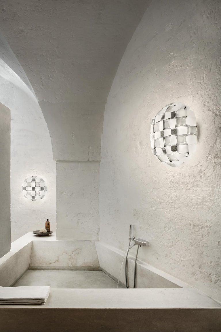Plastic Slamp Mida Wall/Ceiling Light White Platinum by Adriano Rachele For Sale
