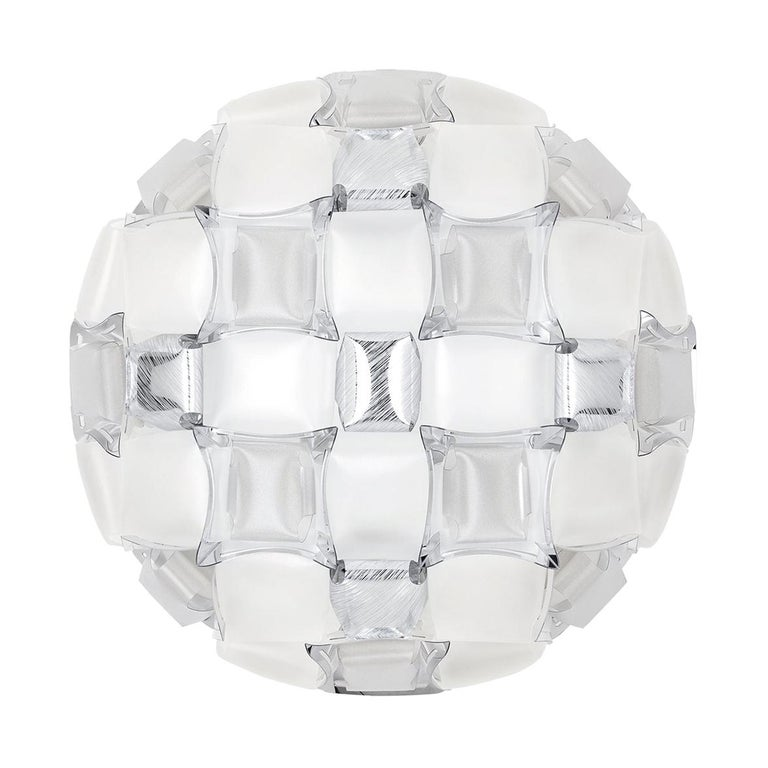 Slamp Mida Wall/Ceiling Light White Platinum by Adriano Rachele For Sale