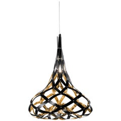 SLAMP Super Morgana Pendant Light in Gold & Black by Stefano Papi