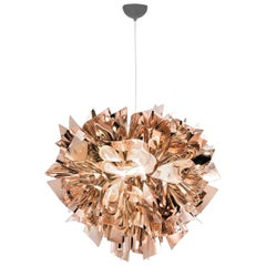 SLAMP Veli Large Suspension Light in Copper by Adriano Rachele