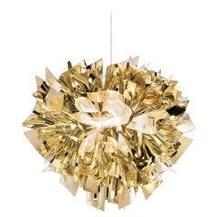 SLAMP Veli Large Suspension Light in Gold by Adriano Rachele