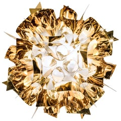 SLAMP Veli Medium Flush Light in Gold by Adriano Rachele