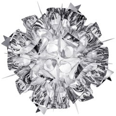 SLAMP Veli Medium Flush Light in Silver by Adriano Rachele
