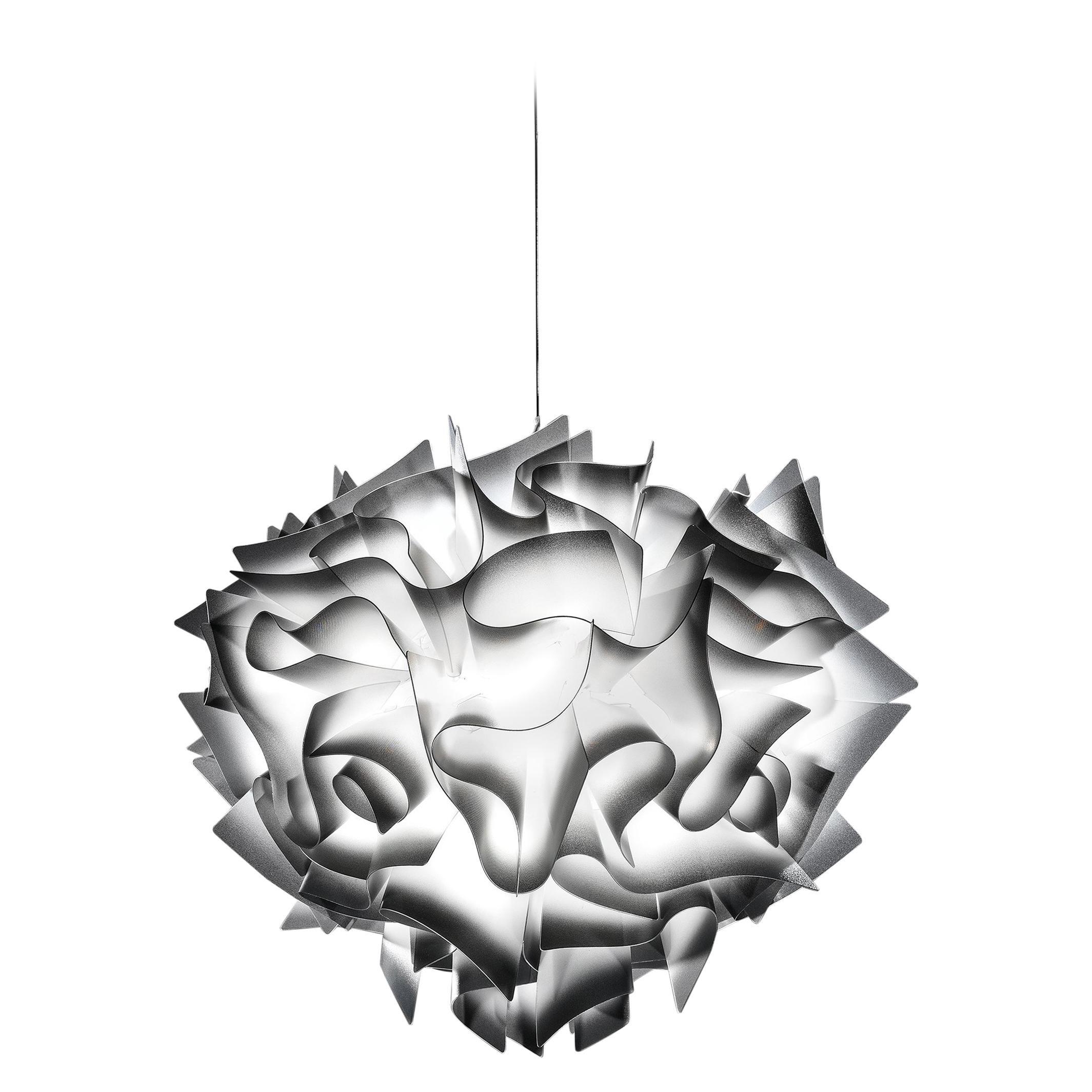 SLAMP Veli Medium Suspension Light in Charcoal by Adriano Rachele