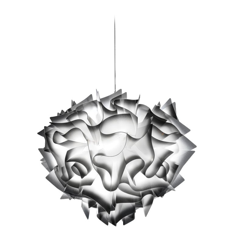 SLAMP Veli Medium Suspension Light in Charcoal by Adriano Rachele For Sale