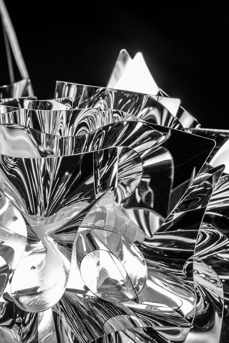SLAMP Veli Medium Suspension Light in Silver by Adriano Rachele In New Condition For Sale In Pomezia, Rome