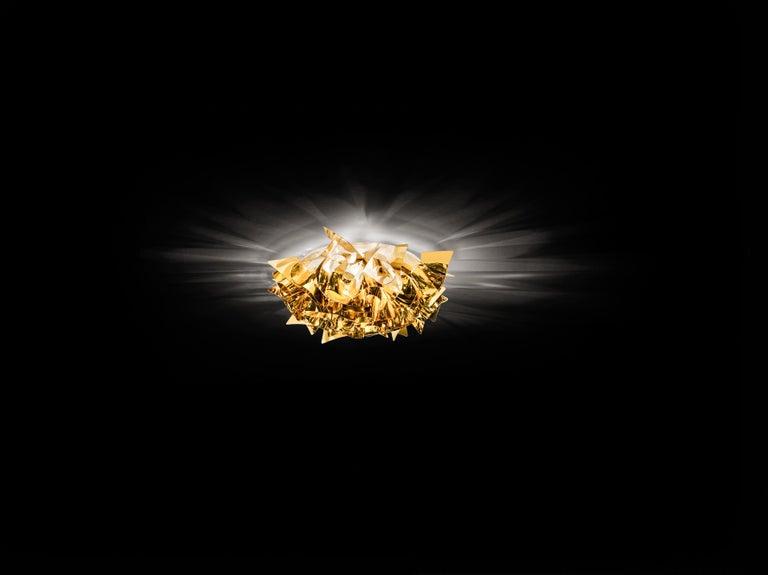 Modern SLAMP Veli Mini Flush Light in Gold by Adriano Rachele For Sale